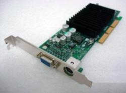 322891-001 nVIDIA GeForce4 MX440 AGP 8X graphics card - Graphics board with 64MB DDR SDRAM, has one 15-pin VGA output and one S-video output - Requires one AGP Slot - Includes both low profile and ATX I/O brackets