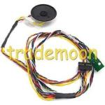 Power on/off switch and LEDs cable assembly - Includes system speaker and thermal heat sensor (Q1) embedded in the cable