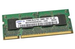 661-3876 SDRAM, 512 MB, 667 MHz DDR2, SO-DIMM