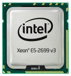 Intel Eighteen-Core 64-bit Xeon E5-2699v3 processor - 2.3GHz (Haswell-EP, 45MB Level-3 cache size, 9.6 GT/s QPI (4800 MHz) 5 GT/s DMI) Front Side Bus (FSB), 145 Watt TDP (Thermal Design Power), FCLGA2011-3 (Flip-Chip Land Grid Array) socket)